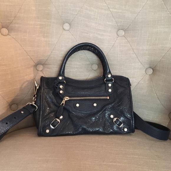 4f62188ec1 Balenciaga Bags   Nwt Mini City Giant Dark Bluesilver   Poshmark